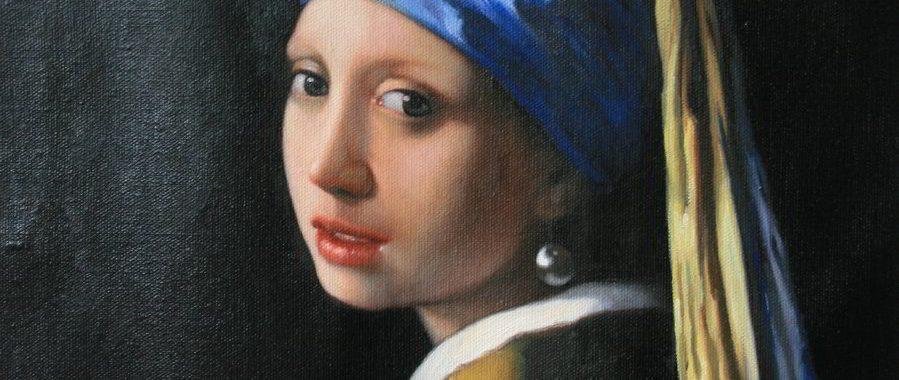 Das Mädchen mit dem Perlenohrgehänge von Vermeer als Auftragsmalerei