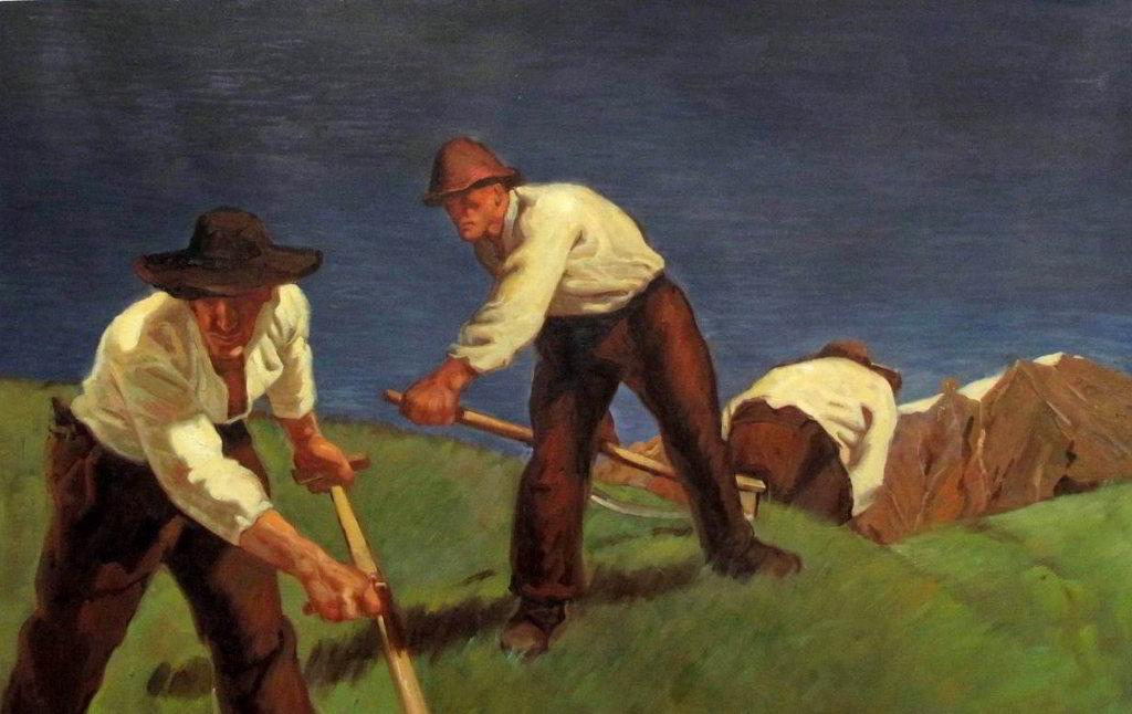 Albin Egger-Lienz - Bergmaeher 1907