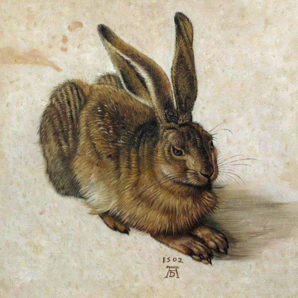 Reproduktion als Ölgemälde - Feldhase von Albrecht Dürer - Tierportrait