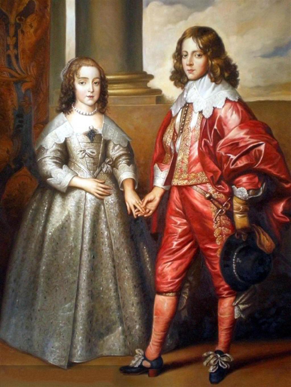 Anthonis van Dyck - William II and his bride Mary Stuart (1641)