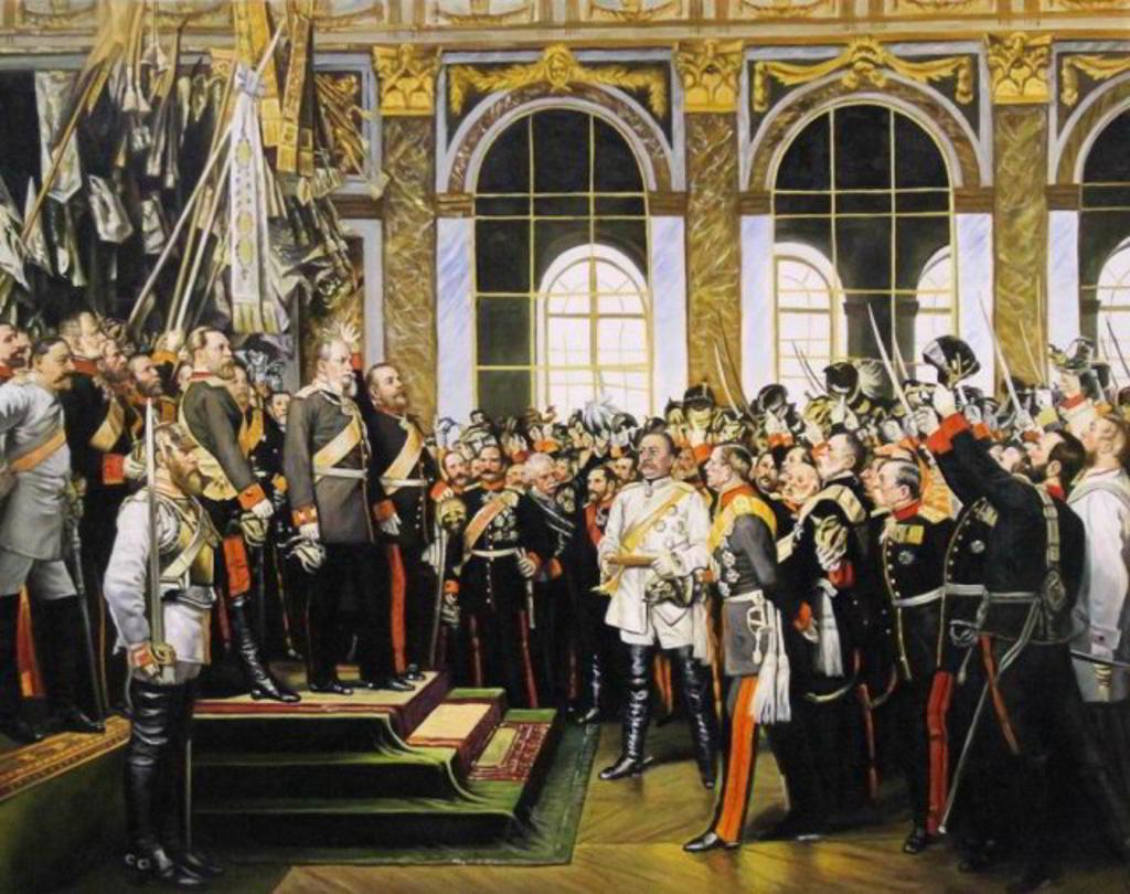 Anton von Werner - Kaiserproklamation 1885 - Reproduktion