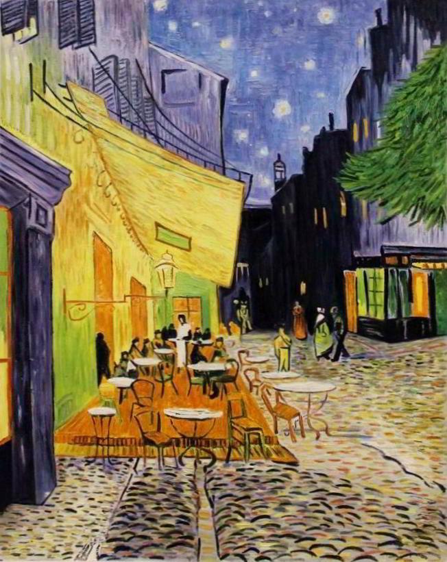 Vincent van Gogh - Caféterrasse am Abend (1888)