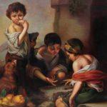 Buben beim Würfelspiel als Reproduktion des Werkes von Bartolomé Esteban Murillo