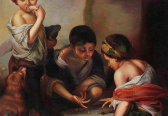 Bartolomé Esteban Murillo - Buben beim Würfelspiel