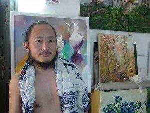 Chinesische Auftragsmaler in Dafen malen Ölgemälde