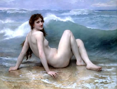 The Wave (1896) - William-Adolphe Bouguereau