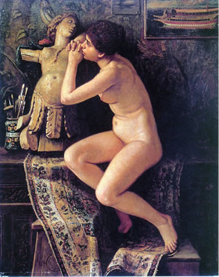 The Venetian Model - (1878) Elihu Vedder