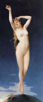 Aurora (1876) von Jean-Baptiste Bertrand - Aktmalerei