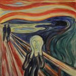 """Eine von 4 Versionen des Motivs """"Der Schrei"""" - Edvard Munch als Auftragsmalerei"""