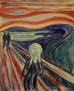 Der Schrei von Edward Munch Version von 1893