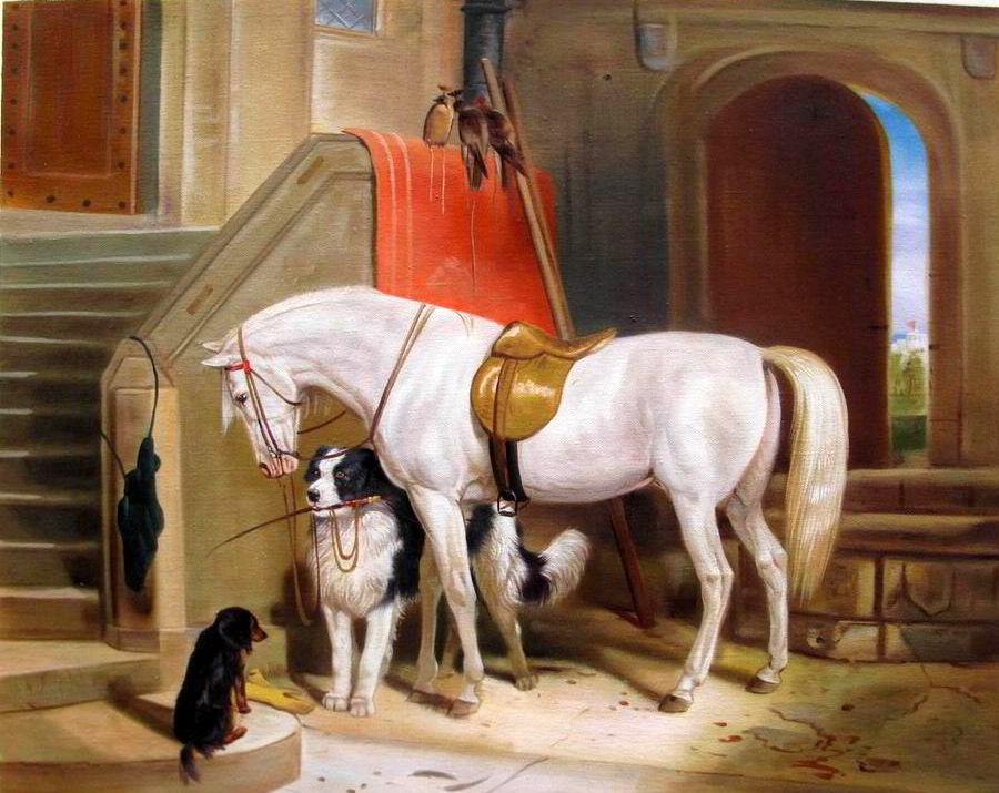 Reproduktion als Ölgemälde - Prince Georges Favourites von Edwin Henry Landseer - Tierportrait