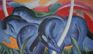 Franz Marc - Die grossen blauen Pferde (1911)