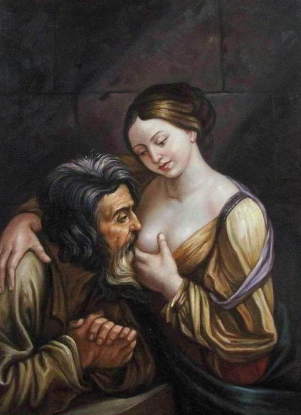 Giovanni Andrea Sirani, Cimon und Pero (Carità romana)