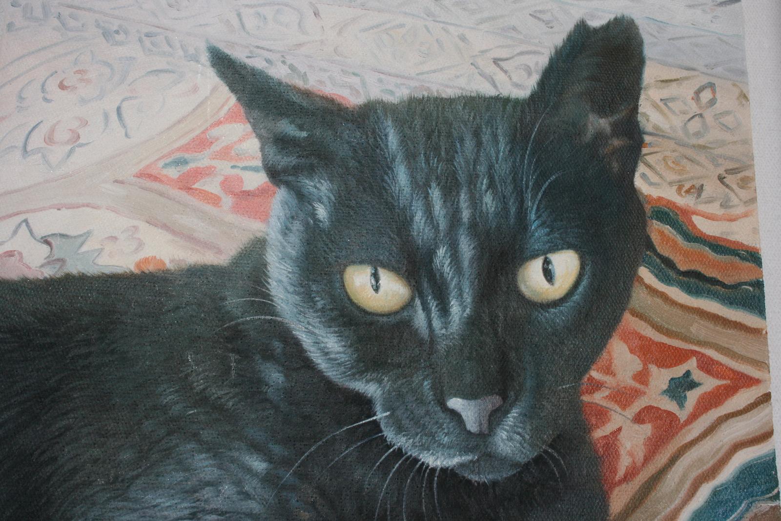 oelgemaelde tierportrait reproduktion katze portraitmalerei