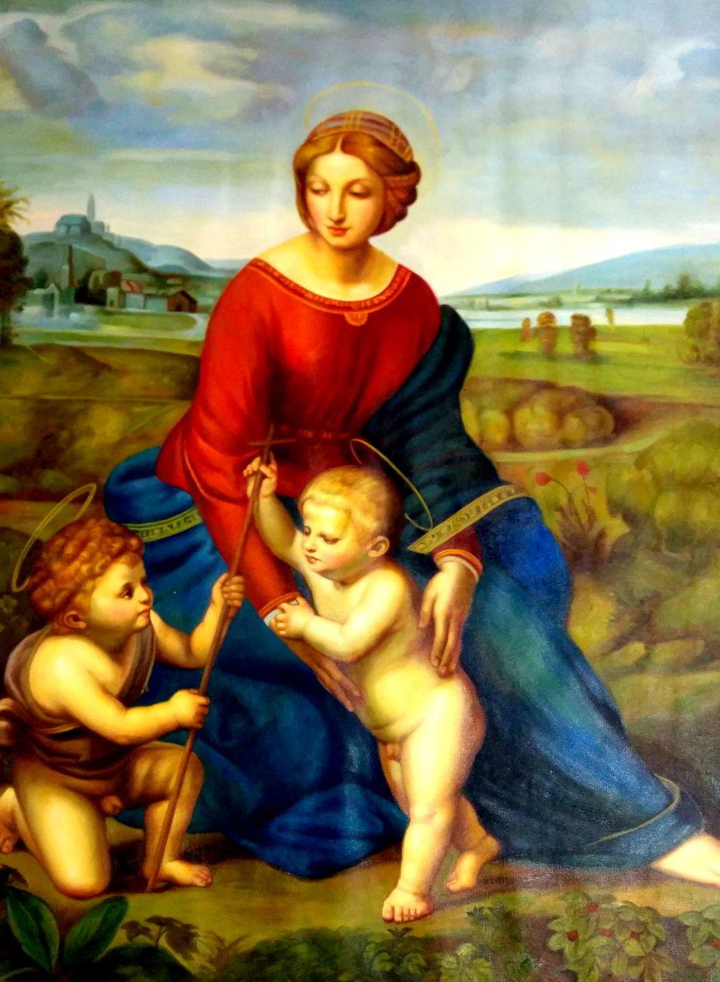 Madonna im Grünen - Raffael - oelgemaelde von 1506