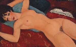 Liegender Akt von Amedeo Modigliani