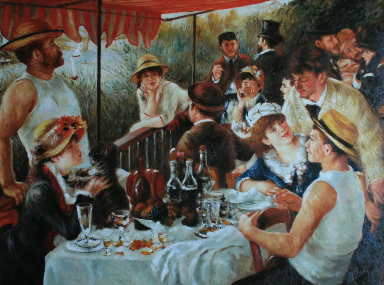 Das Frühstück der Ruderer von Pierre-Auguste Renoir 1880–81 als Reproduktion