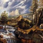 Gewitterlandschaft mit Philemon und Baucis von Peter Paul Rubens als Reproduktion