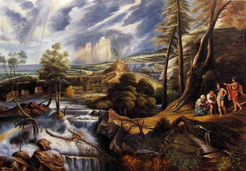 Peter Paul Rubens - Gewitterlandschaft mit Philemon und Baucis - Reproduktion
