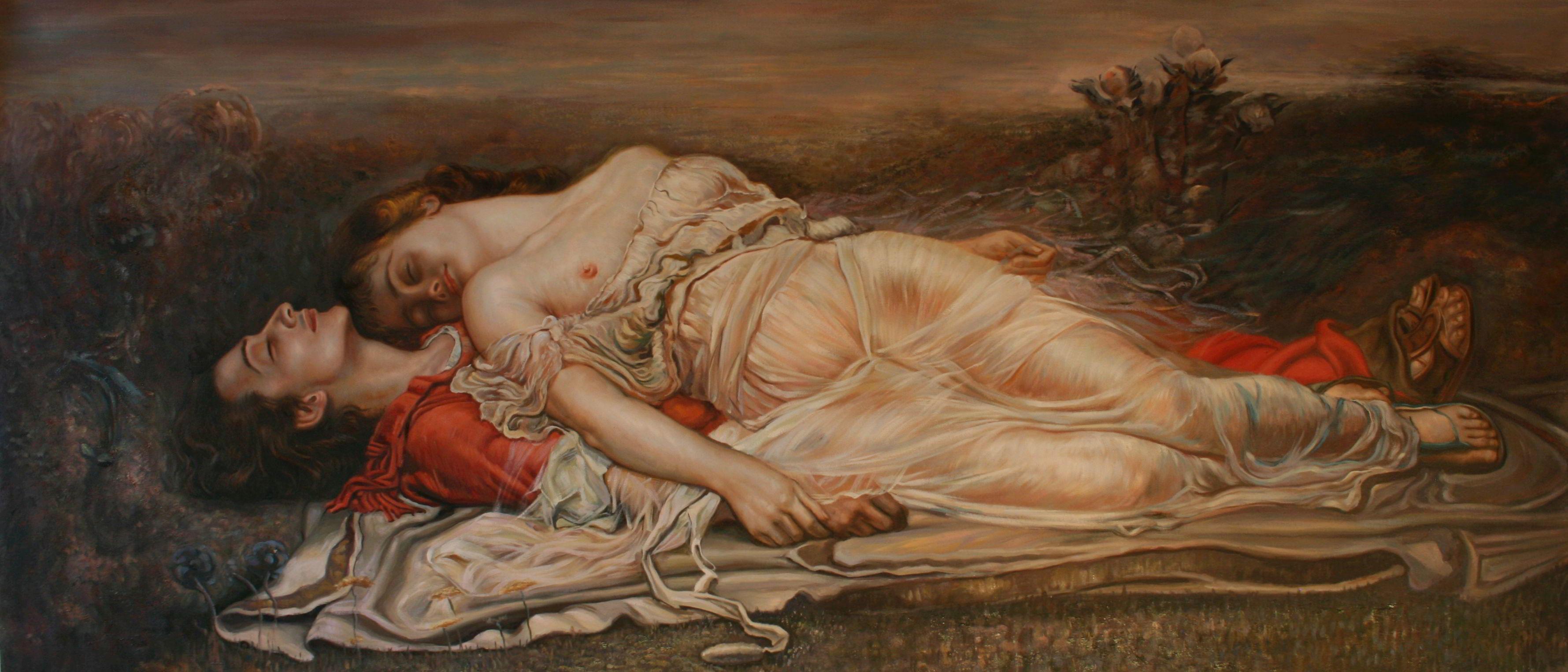 Tristán e Isolda (La muerte) von Rogelio de Egusquiza y Barrena