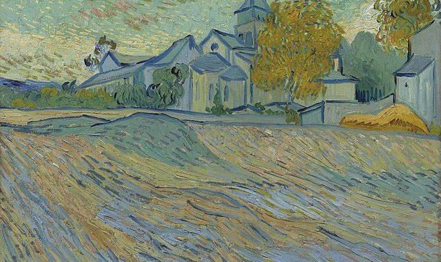 Vincent van Gogh - Vue de l'asile et de la Chapelle de Saint-Rémy