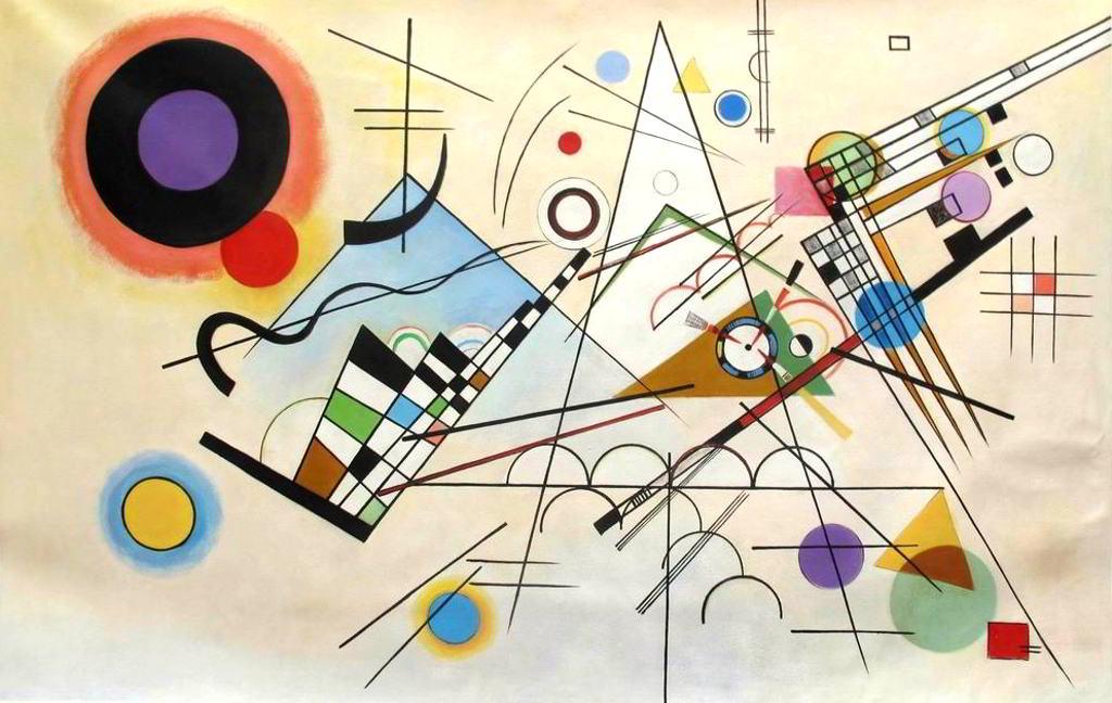 Wassily Kandinsky - Komposition VIII, 1923 - Reproduktion