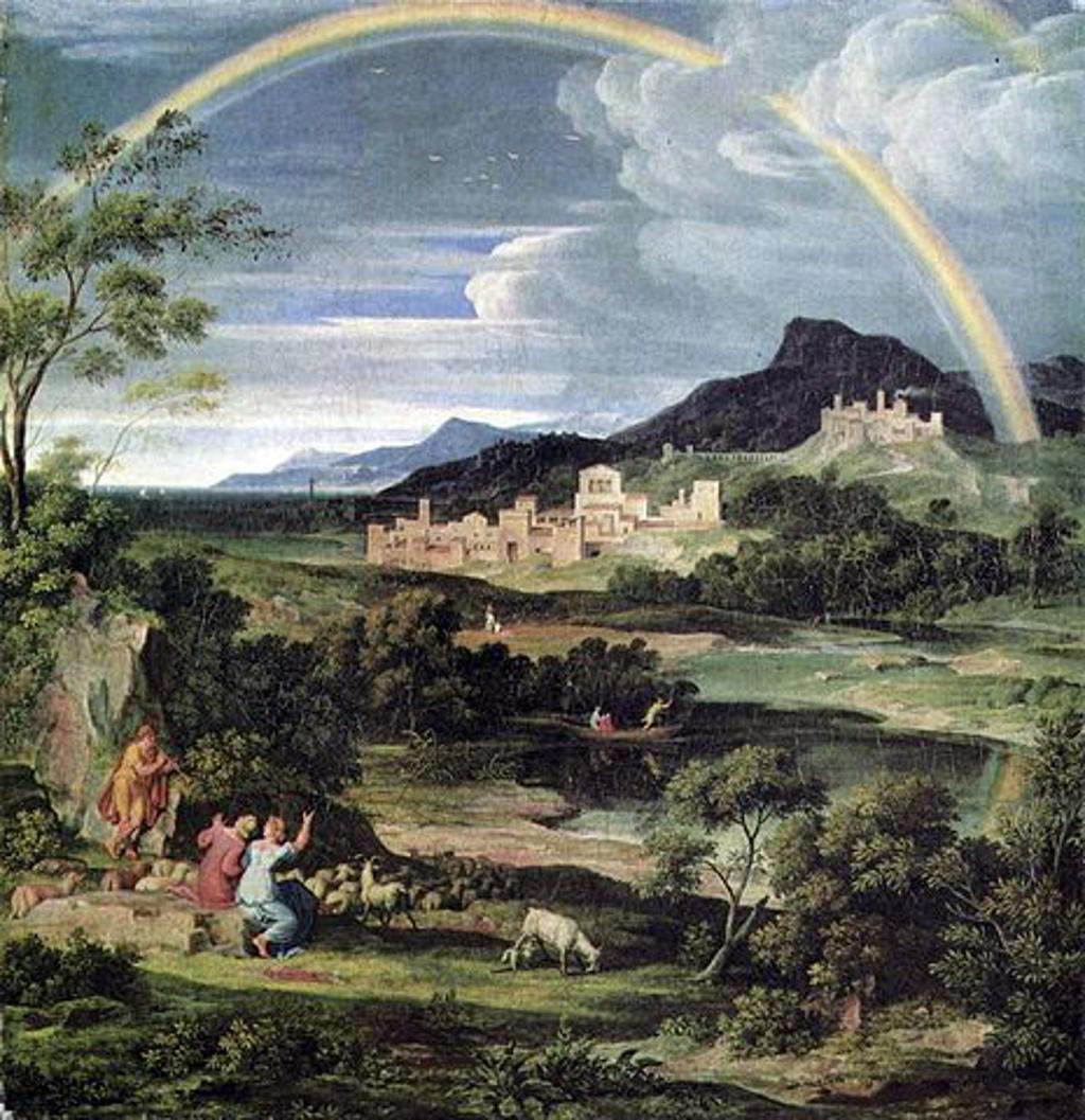 joseph anton koch - heroische landschaft mit regenbogen