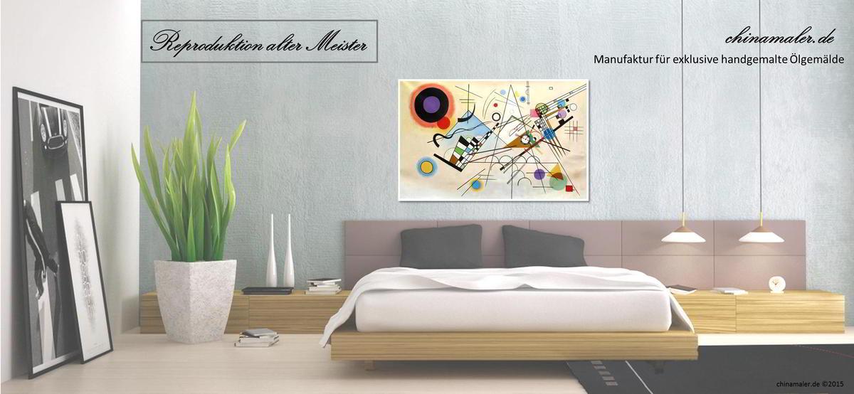 Oelgemaelde von Kandinsky - Reproduktion von Chinamaler